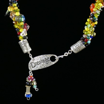 """Spirited Dressage Beaded Necklace"" Overall length: 20"", Clasp length: 2"", Price: $550, Chisholm Ref. #: SBW-N9 