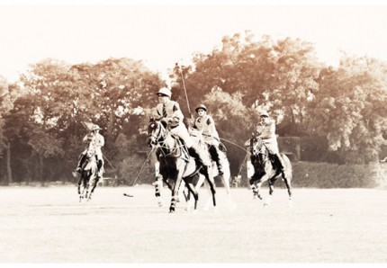 """British Polo Day 3"" Jodhpur, India 2013, Archival pigment print on rag, 16.5 x 11.7 inches"