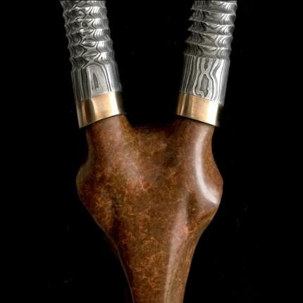 Damascus Steel Horns
