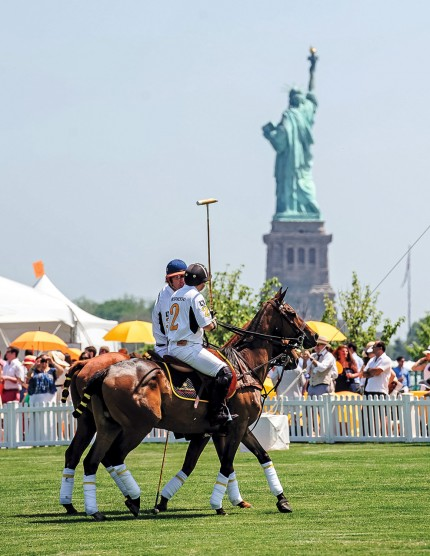 Veuve Clicquot Polo Classic with view of the Statue of Liberty, 2013