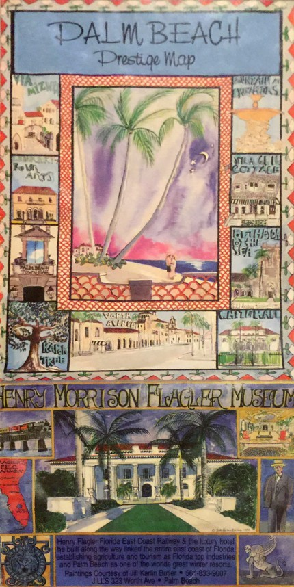 """""""Palm Beach Prestige Map"""" Mixed media on Arches paper"""