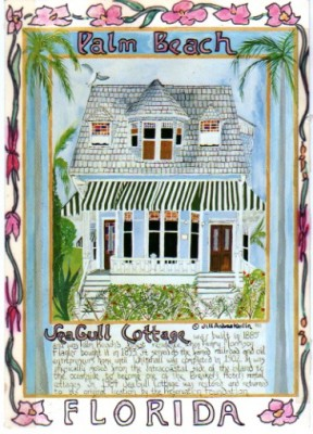 """The Seagull Cottage"" Mixed media on Arches paper, 18 x 24 inches, Signed lower right"