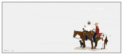 """""""Morning Ride"""" Limited edition archival pigment print, Edition of 99, 13 x 36 inches 