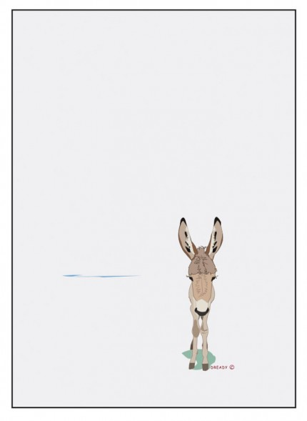 """""""Donkey"""" Digital graphic art and acrylic inks, Limited edition archival pigment print, Edition of 99: 18 x 12 inches, Signed and Numbered"""