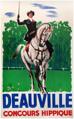 """DEAUVILLE"" by Jacquet, c.1937, 26 x 39 inches (66 x 99 cm) 