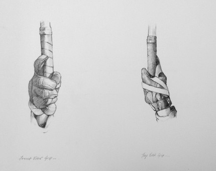 """""""Polo Drawing III"""" Graphite on paper, 11.7 x 16.5 inches, Signed"""