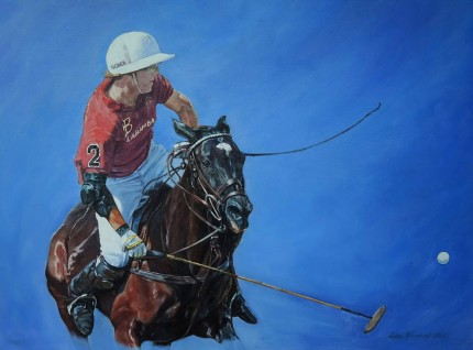 """""""Gonzalito Pieres"""" 2012, Oil on Canvas, 30 x 38 inches, Signed & Dated 