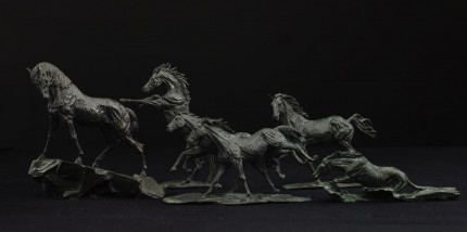 """""""Andalusian Stallion"""" Bronze, Scale 1:18, (Left horse in group)"""