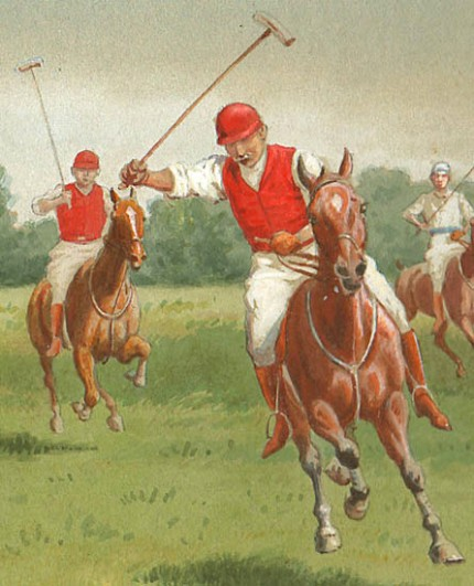 """""""Polo"""" Watercolour on board, 9.75 x 13.75 inches, Signed lower right 