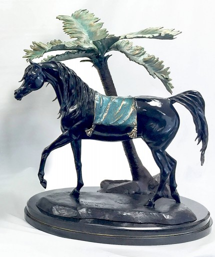 """Desert Elegance with Palm Tree"" Master model for life-size bronze, Collectors limited edition of 30, 18 x 21 x 12 inches 