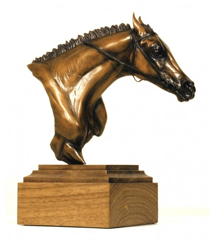 """Race the Wind"" Bronze, Edition of 50, 12.25 x 11 x 5 inches 