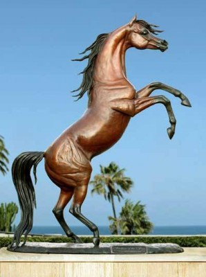 """Stallion of the Sun"" Life-size bronze, Collectors limited edition of 10, 10.5 x 8 x 3 feet 