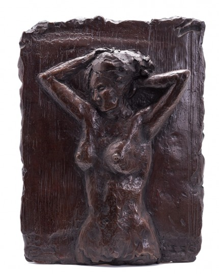 """Nude Relief I"" Bronze, Numbered, Signed & Dated"
