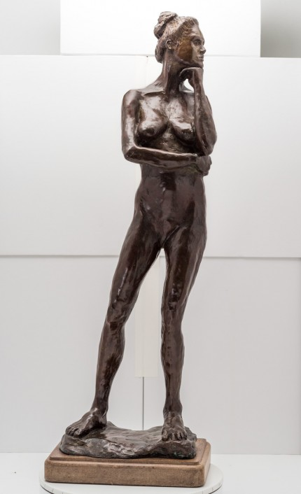 """Standing Nude"" Bronze, Numbered, Signed & Dated"