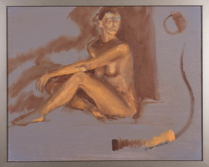 """Figure I"" Oil on canvas, Signed"