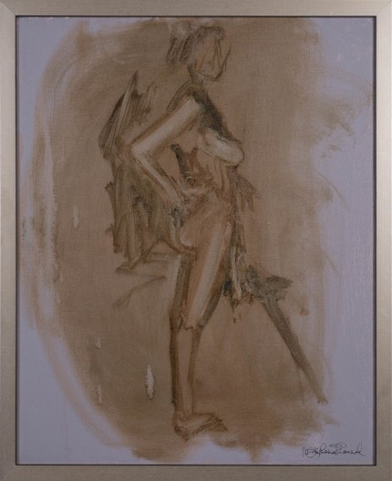"""Figure III"" Oil on canvas, Signed"