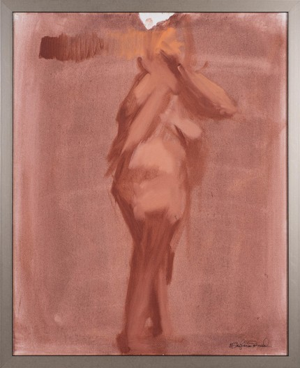 """Figure IV"" Oil on canvas, Signed"