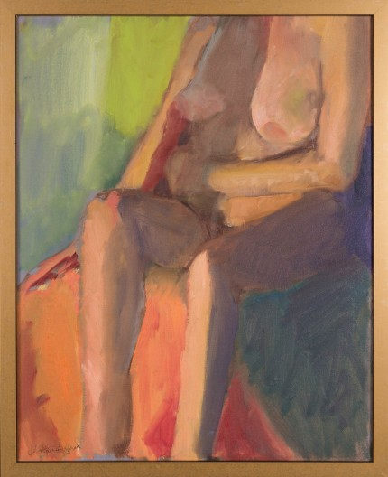 """Figure XVI"" Oil on canvas, Signed"