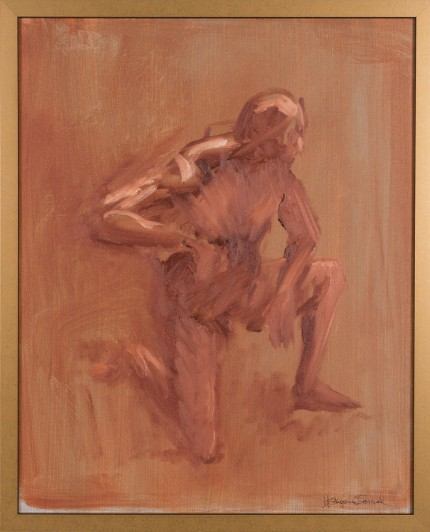 """Figure XVII"" Oil on canvas, Signed"