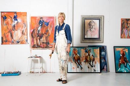 Anne Hansson in the studio