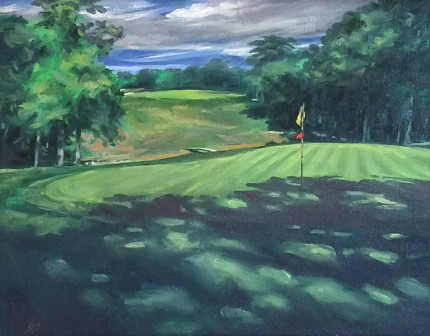 """Hickory Hills, OH #18"" Oil on canvas, 11 x 14 inches, 19 x 22 inches, Signed lower right"