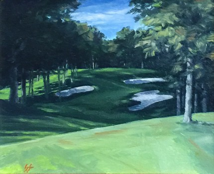 """Hickory Hills, OH #8"" Oil on canvas, 8 x 10 inches, 18.5 x 20 inches, Signed lower left"