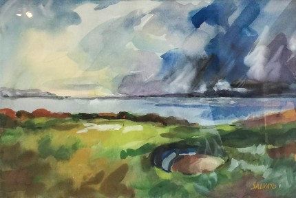 """Nairn, Scotland"" Watercolour on paper, 12 x 18 inches, 20 x 26 inches, Signed lower right"
