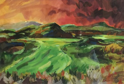 """Waterville, Ireland"" Watercolour on paper, 12 x 19 inches, 20 x 26 inches, Signed lower right"
