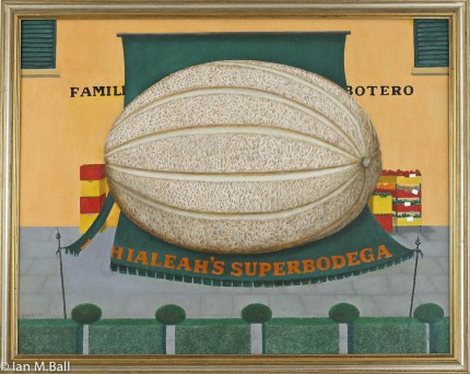 """Fernando Botero's Family Store"" Oil on canvas, 31 x 39 inches Signed"