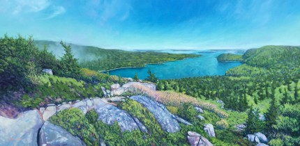"""Mt. Acadia"" Oil on canvas, 24 x 48 inches, Signed"