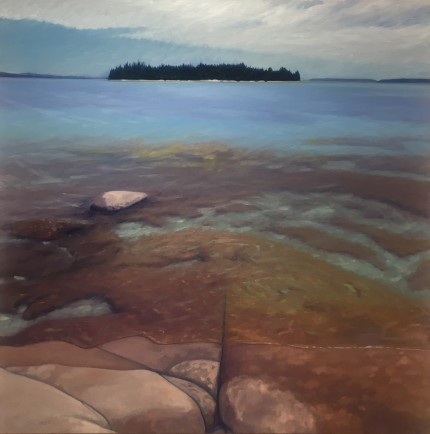 """Eagle Island"" Oil on canvas, 36 x 36 inches, Signed"