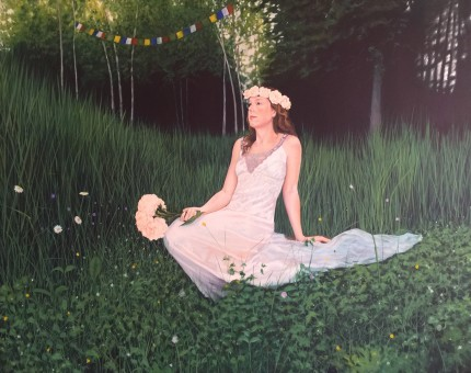 """Summer Wedding"" Oil on canvas, 48 x 60 inches, Signed"