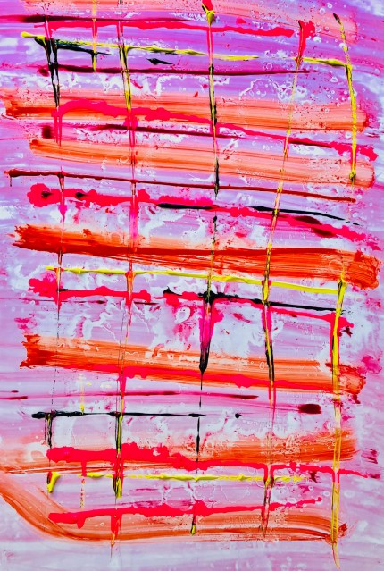 """""""Abstract 14"""" Watercolor on paper, 42 x 26 inches"""