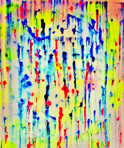 """""""Abstract 8"""" Watercolor on paper, 3 x 2 feet"""