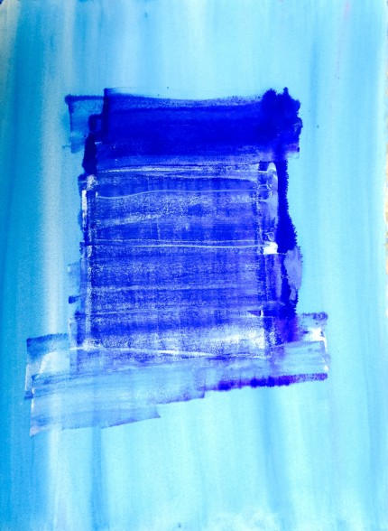 """""""New Abstract 6"""" Watercolor on paper, 34 x 22 inches"""