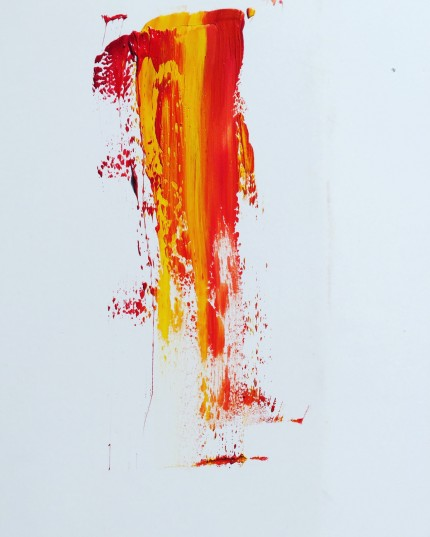 """""""Heat and Fire of Time"""" Acrylic on canvas, 72 x 36 inches"""