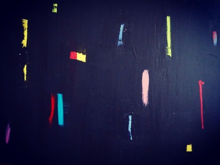 """""""Night Lights"""" Acrylic on canvas, 30 x 40 inches"""
