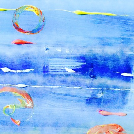"""Sea Dreams"" Acrylic on canvas, 25 x 49 inches"