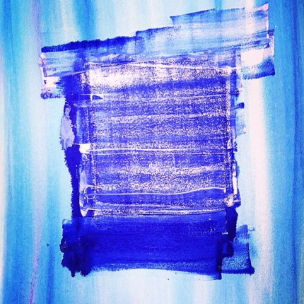 """""""Blue Box of Time"""" Watercolor on paper, 30 x 23 inches"""