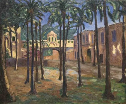 """A North African Town"" c. 1935, Oil on canvas, 25 x 30 inches"