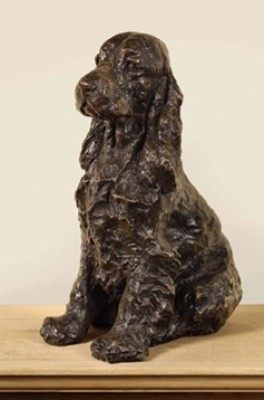 """Daisy"" Cocker Spaniel, Bronze resin, 10 x 7 x 5 inches"