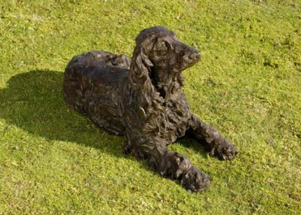 """Ruby"" Cocker Spaniel, Bronze resin, 14 x 24 x 9 inches"