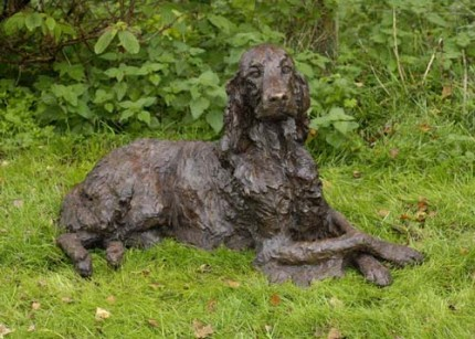 """Nutmeg"" Irish Setter, Bronze resin, 21 x 39 x 23 inches"