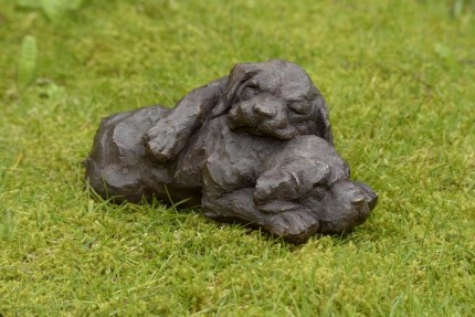 """New Life"" Labrador, Bronze resin, 10 x 4 x 7 inches"