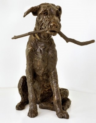 """Fingal"" Wolfhound, Bronze resin, 15 x 11 x 8 inches"