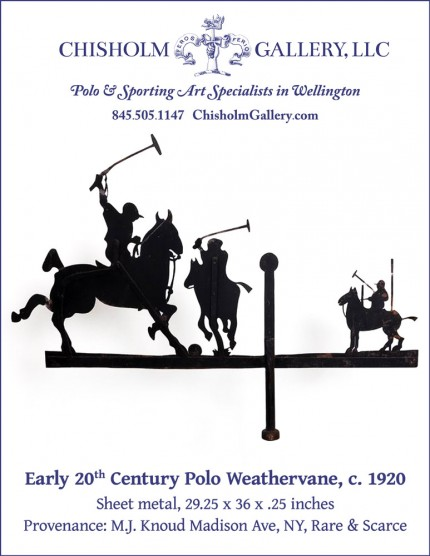 """Early 20th Century Polo Weathervane, c. 1920"""