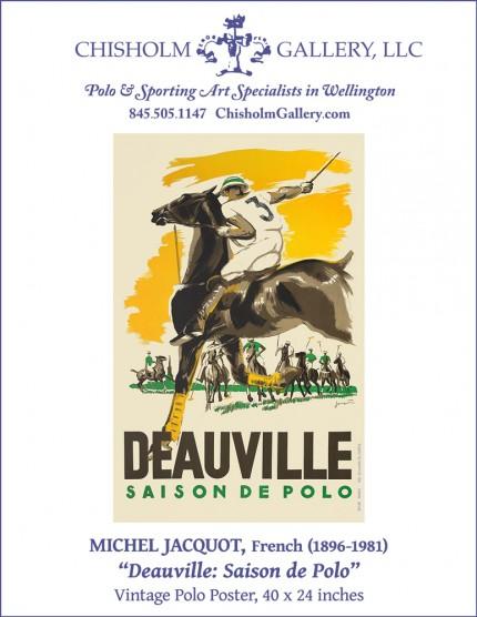 """Vintage Polo Poster, Michel Jacquot """"Deauville: Saison de Polo"""""""