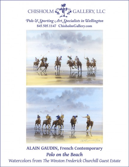 "Alain Gaudin ""Polo on the Beach"""