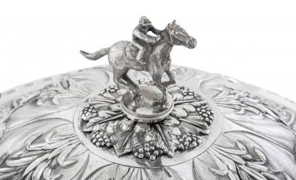"""George IV Presentation Cup by Rebecca Emes & Edward Barnard, c. 1824"" Sterling Silver, 14 x 17 inches, 122.41 oz"