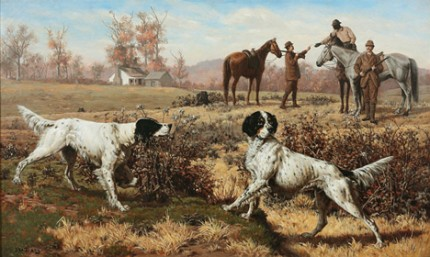 """""""Setters on Point"""" Oil on canvas"""